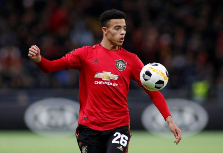 Manchester United's Mason Greenwood in action.