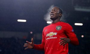 Manchester United's Odion Ighalo reacts.