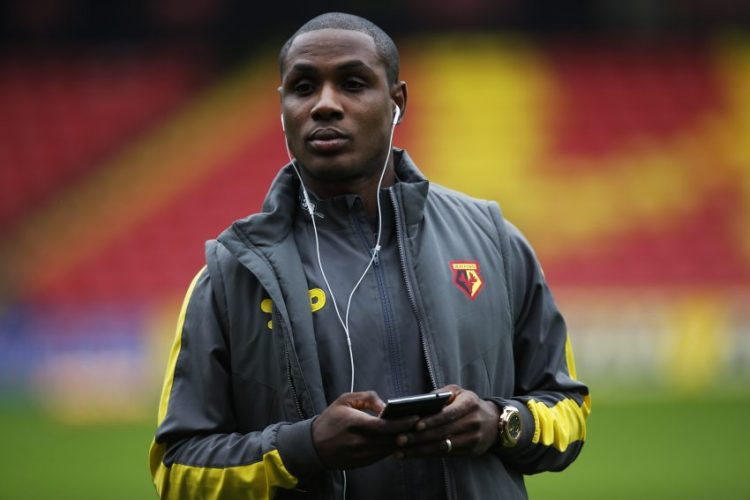 Watford's Odion Ighalo before the game.