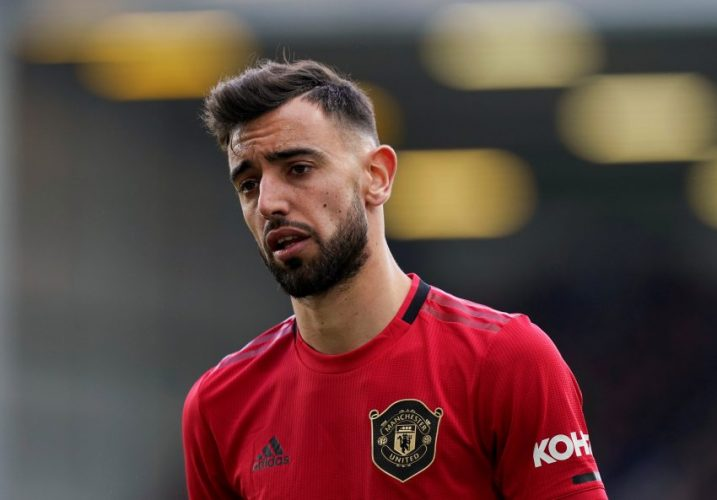 Man United's Bruno Fernandes.