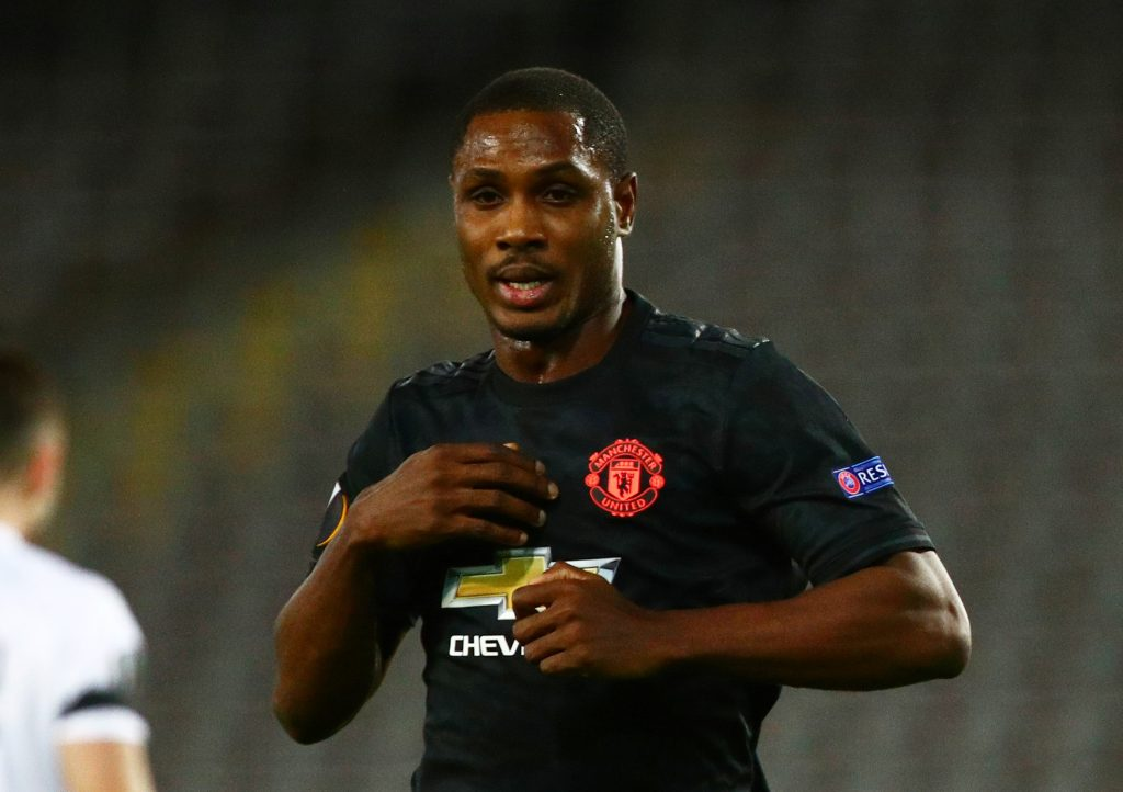 Soccer Football - Europa League - Round of 16 First Leg - LASK Linz v Manchester United - Linzer Stadion, Linz, Austria - March 12, 2020  Manchester United's Odion Ighalo celebrates scoring their first goal  REUTERS/Lisi Niesner - RC2IIF9TLE6D
