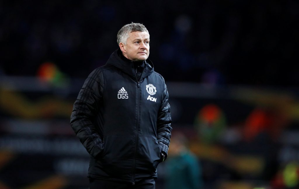 Soccer Football - Europa League - Round of 32 Second Leg - Manchester United v Club Brugge - Old Trafford, Manchester, Britain - February 27, 2020  Manchester United manager Ole Gunnar Solskjaer at the end of the match    REUTERS/Phil Noble - RC299F91IESH
