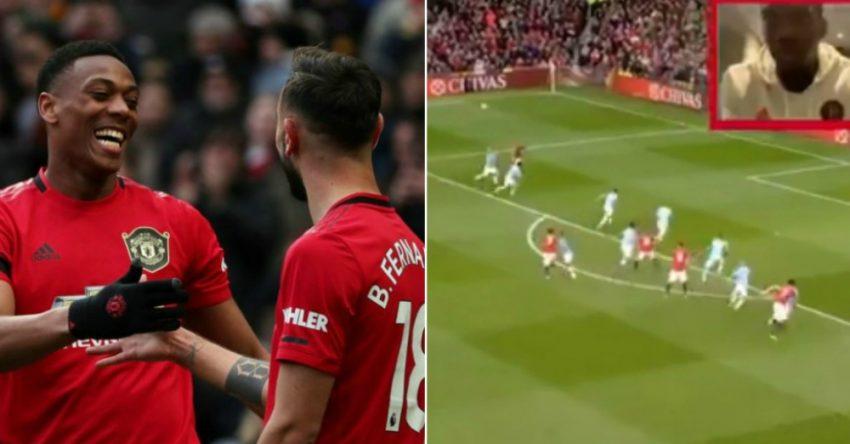 Paul Pogba's Brilliant Reaction To Anthony Martial's Goal vs Man City - BlameFootball