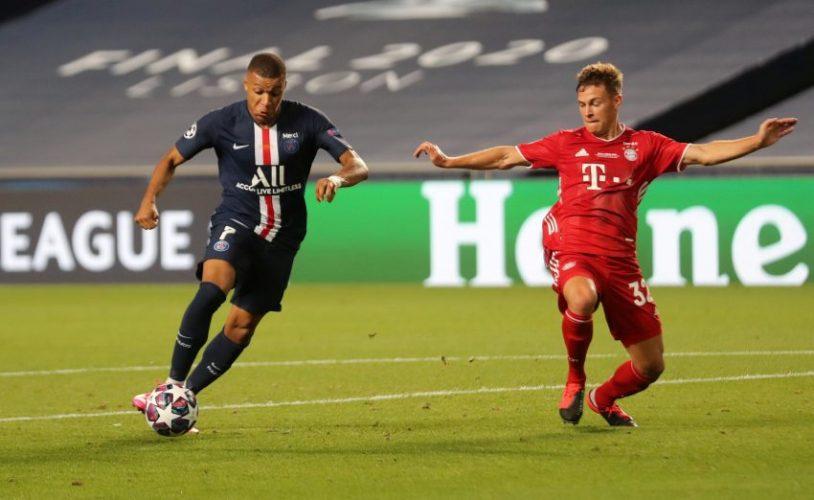 PSG's Kylian Mbappe and Bayern Munich's Joshua Kimmich.
