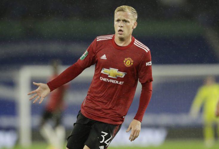 Manchester United's Donny van de Beek.