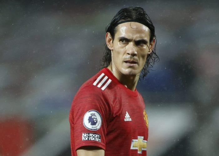 Manchester United's Edinson Cavani.