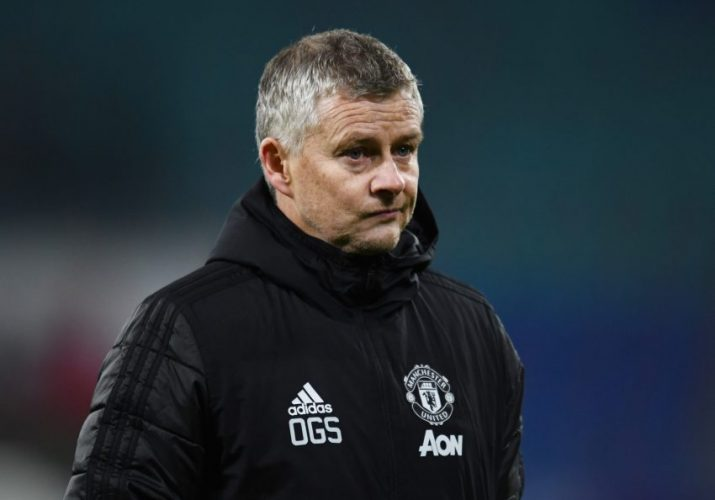 Manchester United manager Ole Gunnar Solskjaer looks dejected after the match.