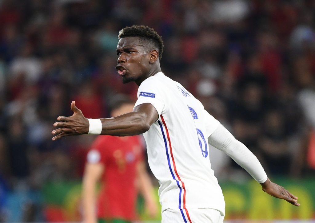 France's Paul Pogba reacts.