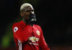 Paul Pogba looks dejected.