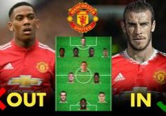 manchester united lineup 2018/19